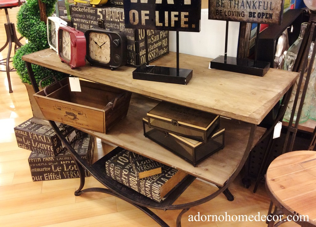 Industrial Semi Circle Console Table