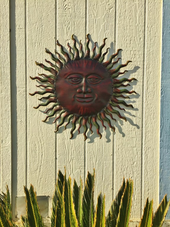 Metal Sun Wall Decor Rustic Garden Art Indoor Outdoor ...