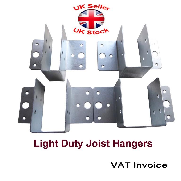 Light Duty Joist Hangers Hanger Timber Galv Steel Sizes Thick - Joist invoice