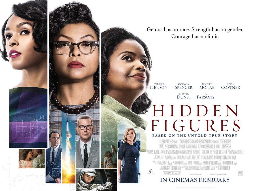 Αφανείς Ηρωίδες (Hidden Figures) Quad Poster