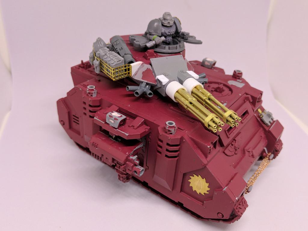 Space Marine Blood Angels Baal Predator Assault Cannon Bustle 40K