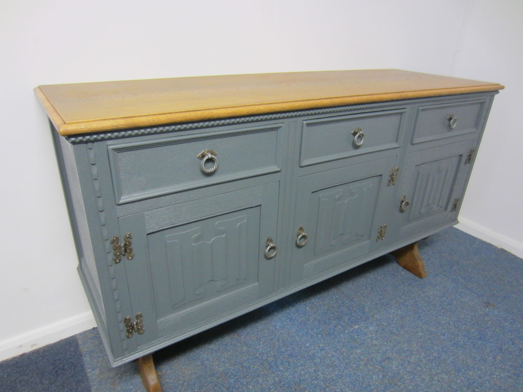 Gorgeous Vintage Solid Oak Jaycee Sideboard Cabinet Painted Farrow& Ball eBay