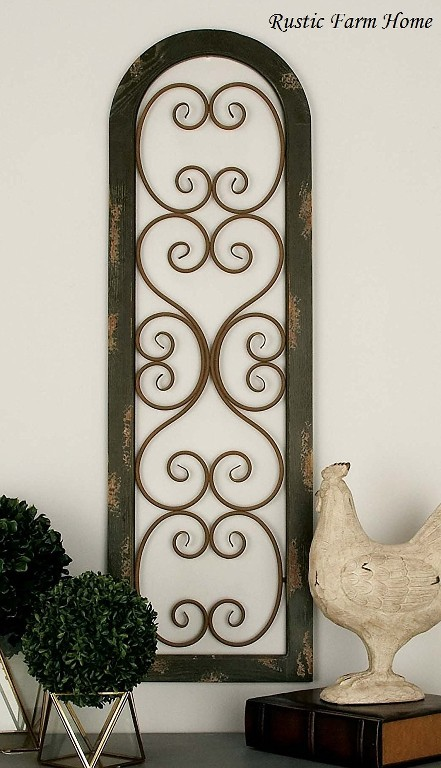Antique Wood Paneling For Walls: Metal Wood Brown Wall Panel Distressed Antique Vintage
