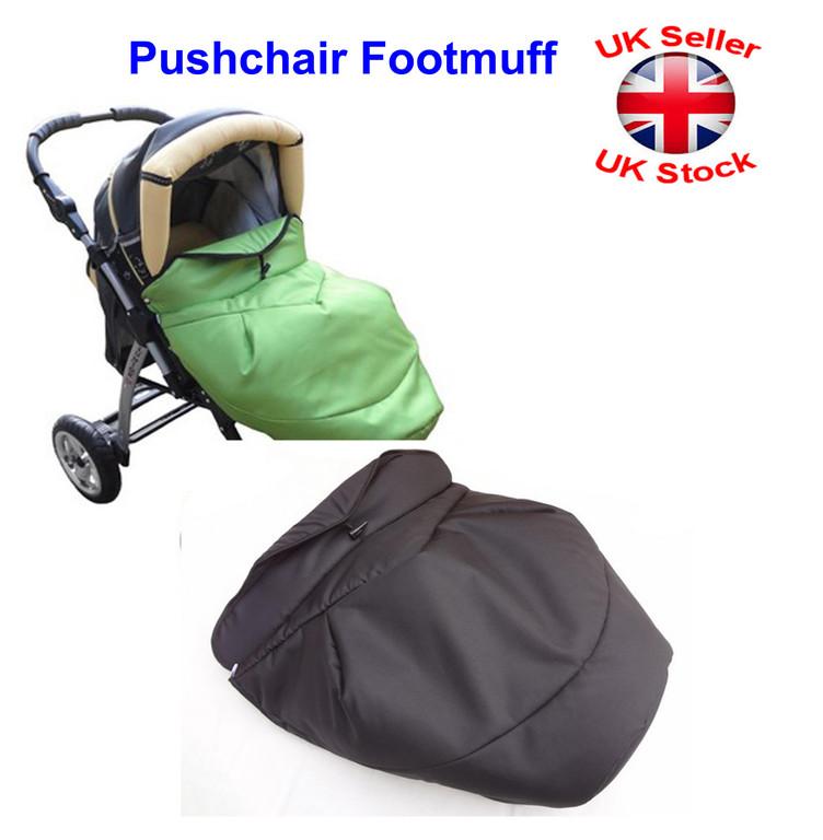 Universal Sheep Wool Footmuff Cosy Toes Fit Buggy Pushchair Stroller Pram Polka
