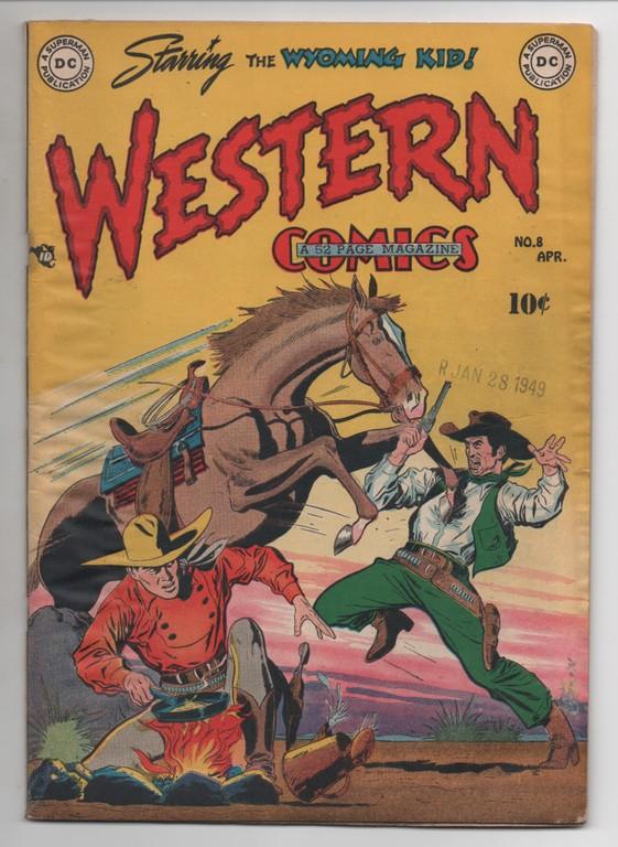 Western Comics #8 DC Comics 1949 Origin of Wyoming Kid GD/VG