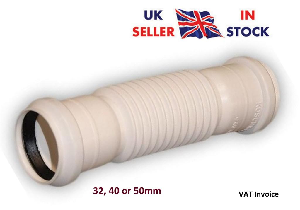 pousser d chet tuyau plomberie flexible gal ou r ducteur raccord blanc 32 40 ebay. Black Bedroom Furniture Sets. Home Design Ideas