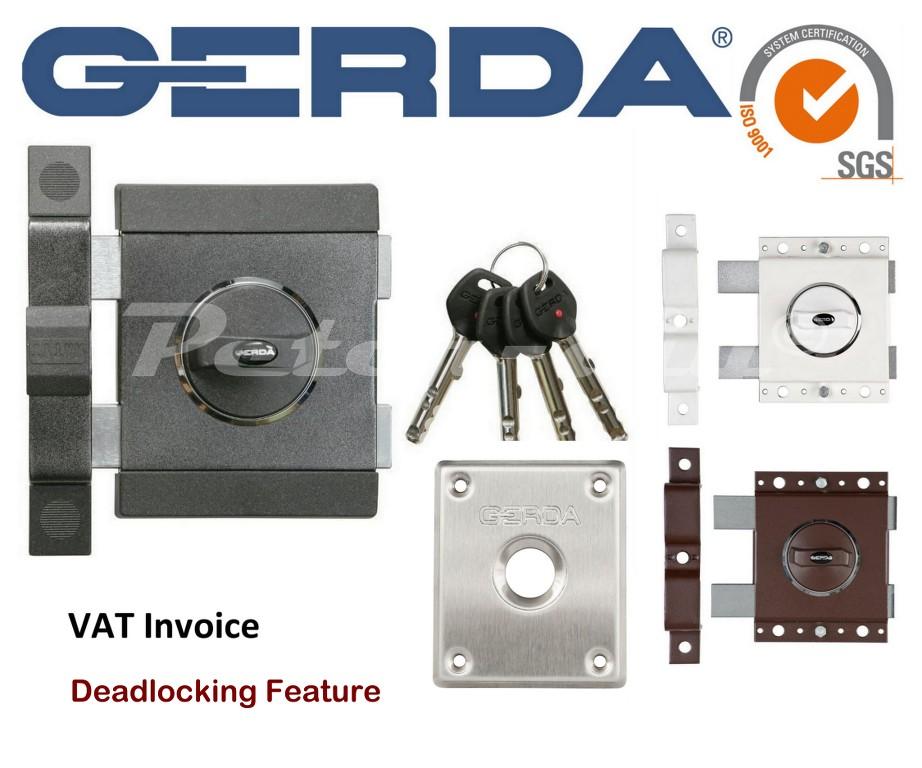 Gerda High Quality Surface Mounted Door Lock Deadlock Warehouse Office Shop Z2