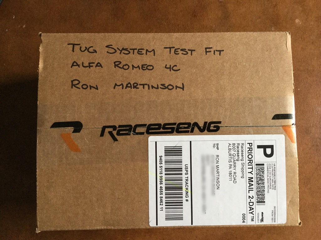 RACESENG Tug (Tow) Preview   Alfa Romeo 4C Forums
