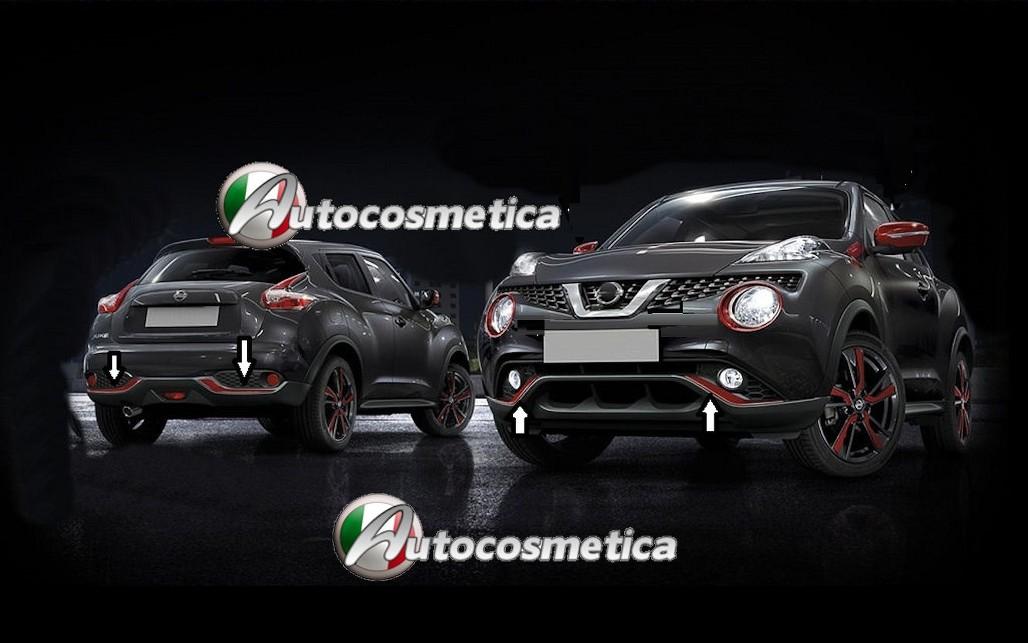 Modanature Per Nissan Juke 14 paraurti anteriore+posteriore abs cromo originali