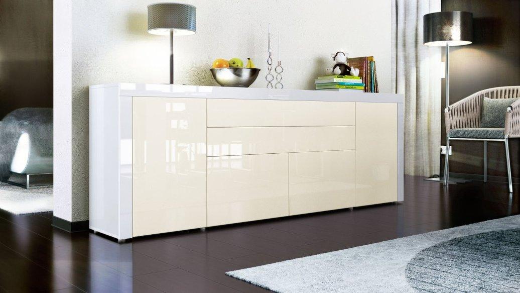 Credenza Moderna Napoli 79 : Madia moderna grande napoli 200 mobile soggiorno bianco frontali 13