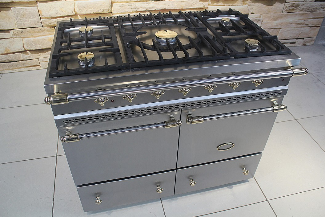 lacanche cluny dual fuel range cooker in stainless steel brass ebay
