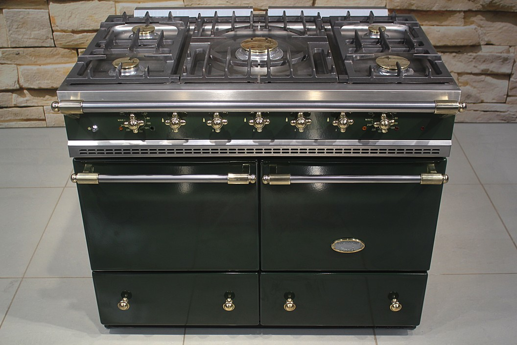 lacanche cluny dual fuel range cooker in green brass ebay