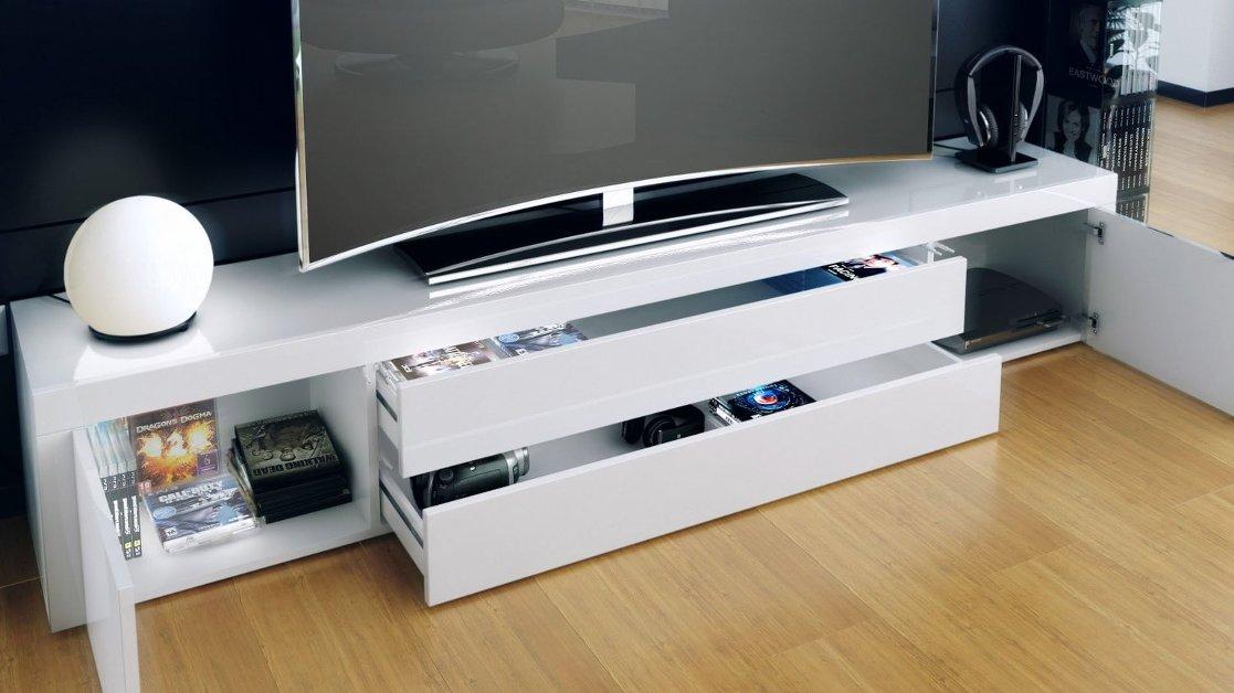 ... Mobile porta tv soggiorno, sala hi fi dvd blu-ray lunghezza cm. 200