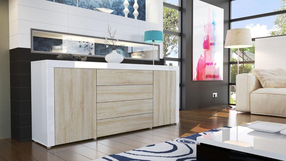 ... credenza moderna madia cassettiera mobile soggiorno 3 modelli a scelta