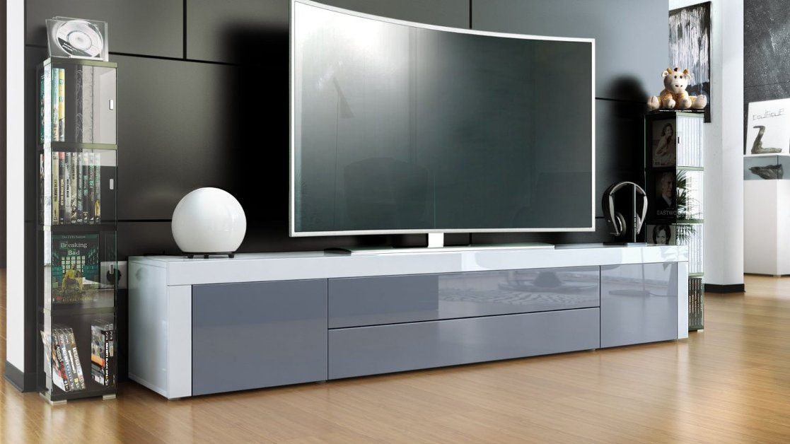 Umago mobile porta tv soggiorno sala hi fi dvd blu ray for Mobili hi fi design