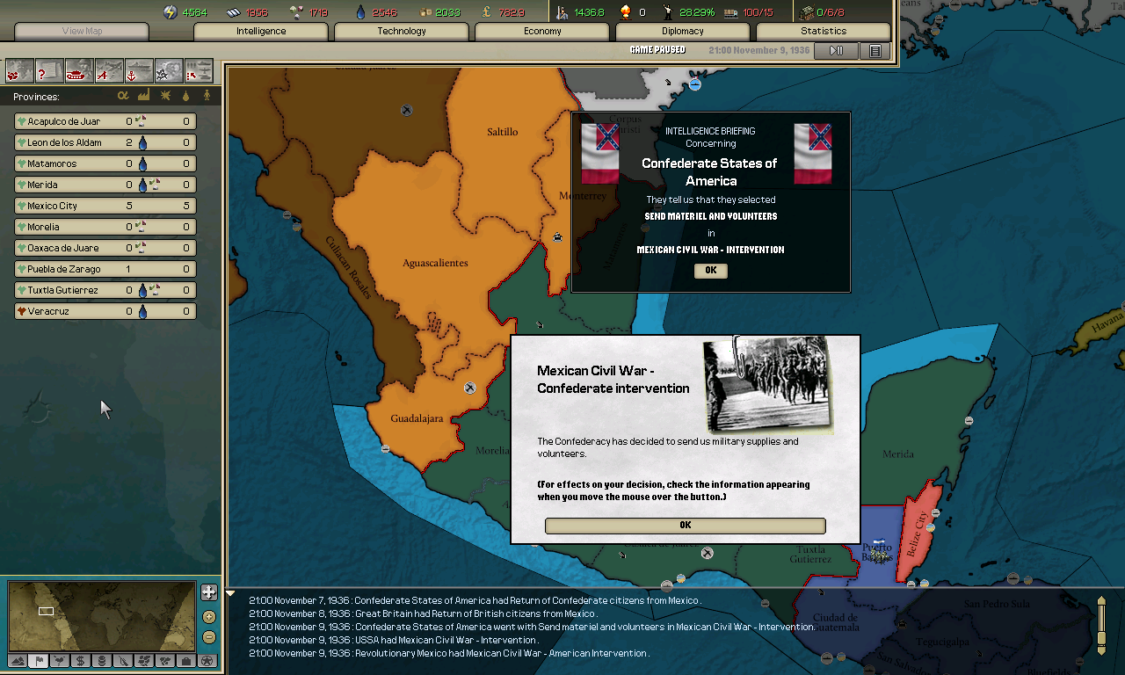 In Mexico the government mobiziled most of