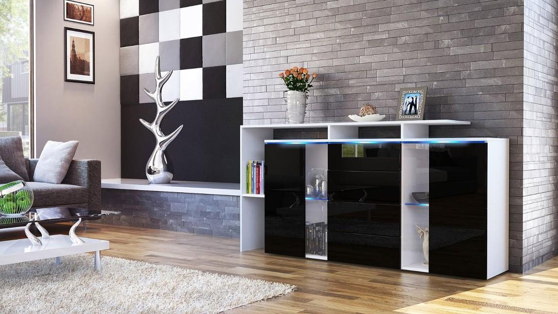Credenza moderna lecce madia cassettiera mobile soggiorno - Luci soggiorno moderno ...