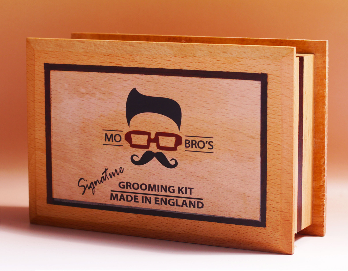mo bro 39 s signature beard grooming kit moustache wax. Black Bedroom Furniture Sets. Home Design Ideas