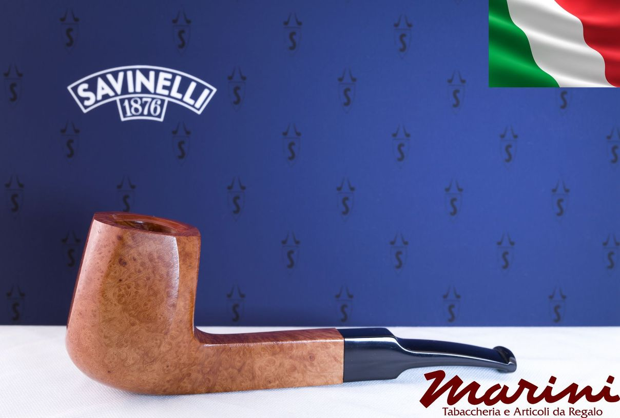 Smoking pipes pipe Savinelli 644 KS curve briar natural waxed wood made in Italy