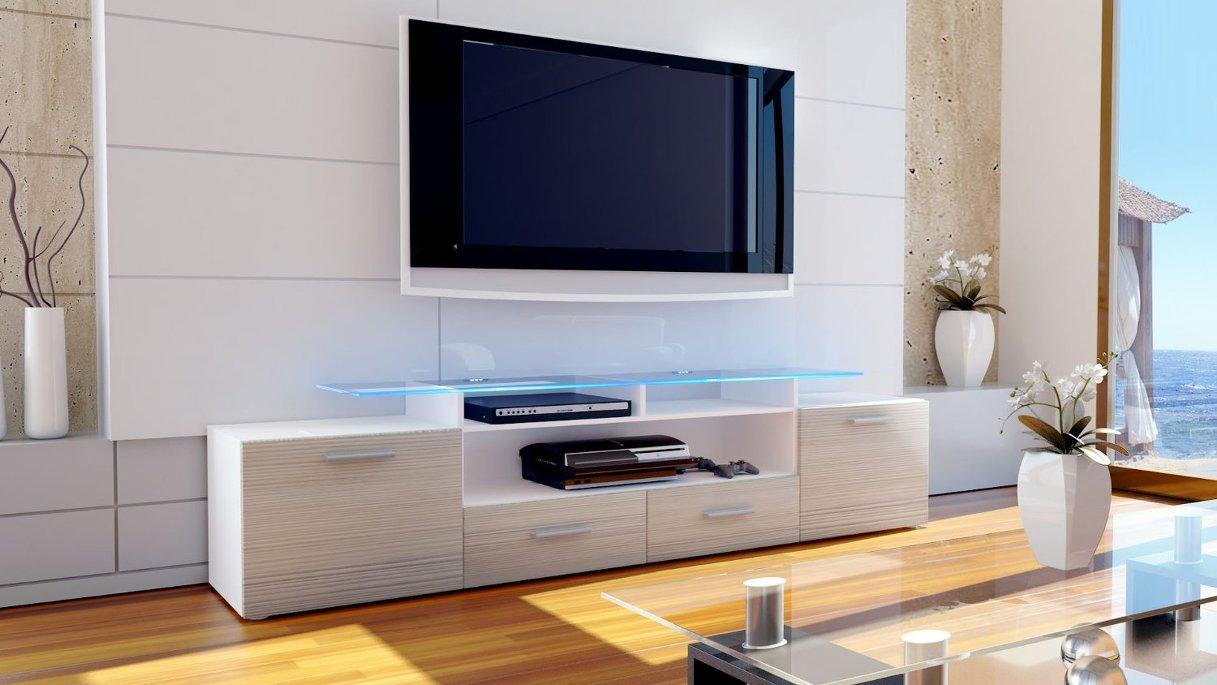 Valentino mobile porta tv bianco avola champagne (rovere ...