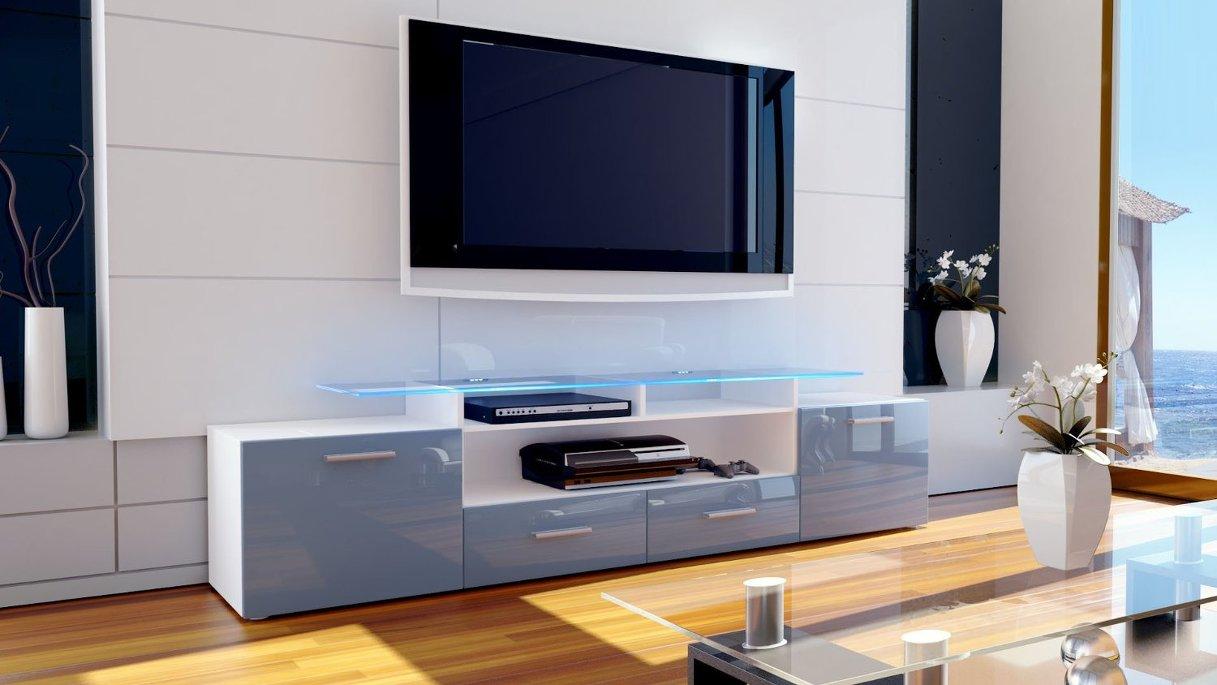 Valentino mobile porta tv moderno in 13 colori corpo for Mobile basso soggiorno moderno