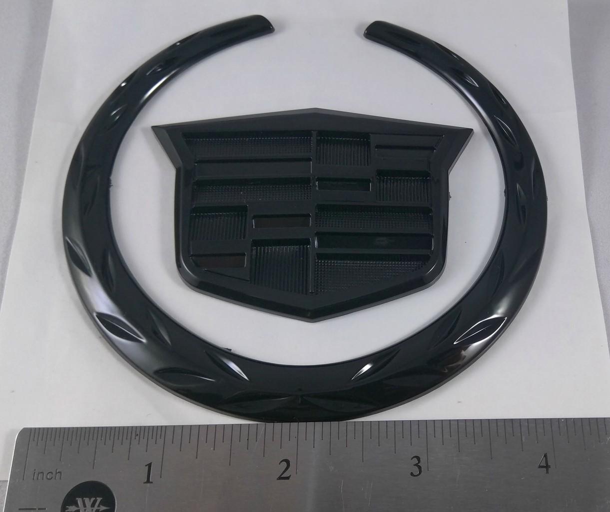 new 4 cadillac front grill hood badge logo emblem. Black Bedroom Furniture Sets. Home Design Ideas