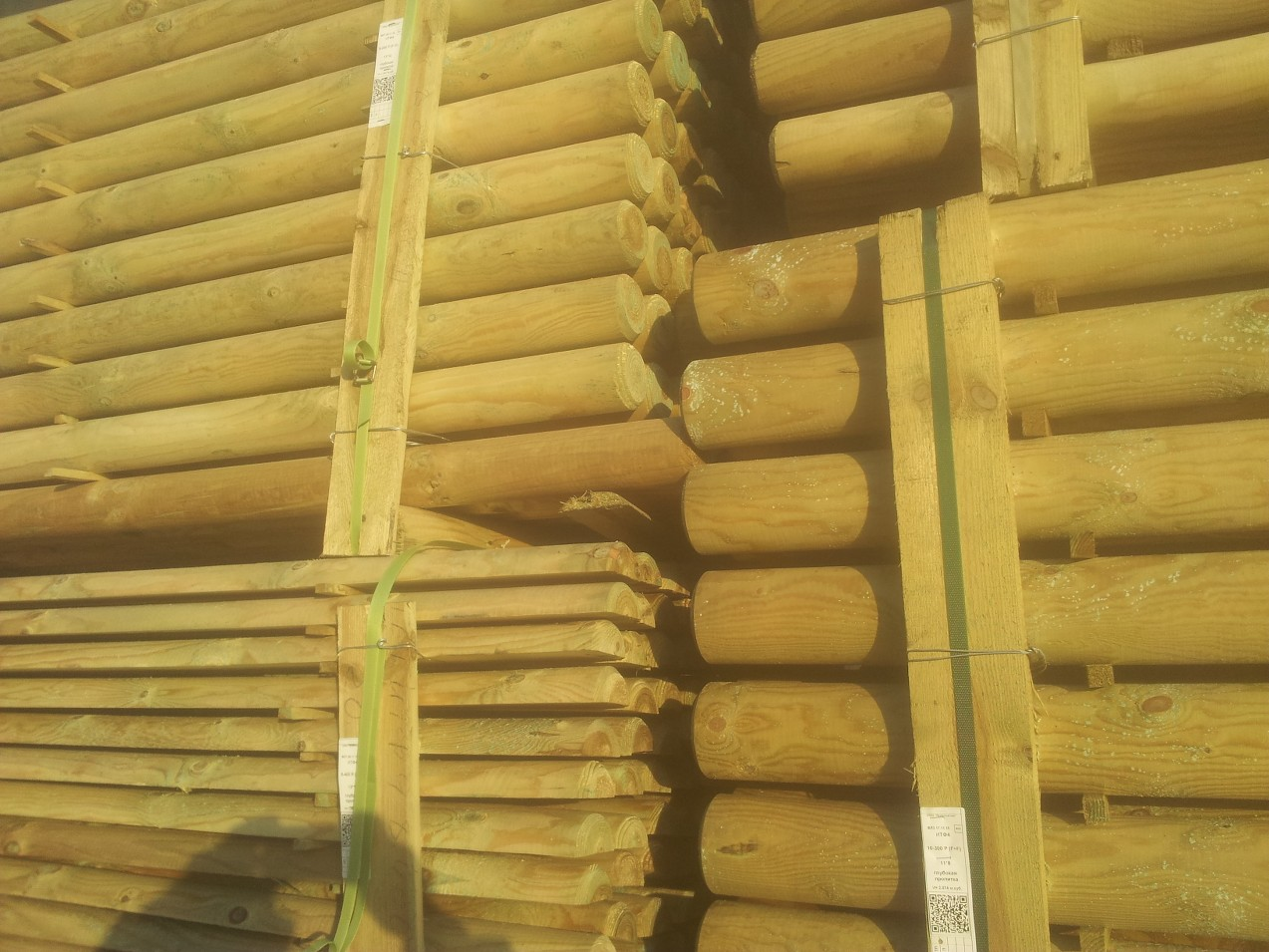 Half Round Wooden Post Treated Pine Post Paddock Fence