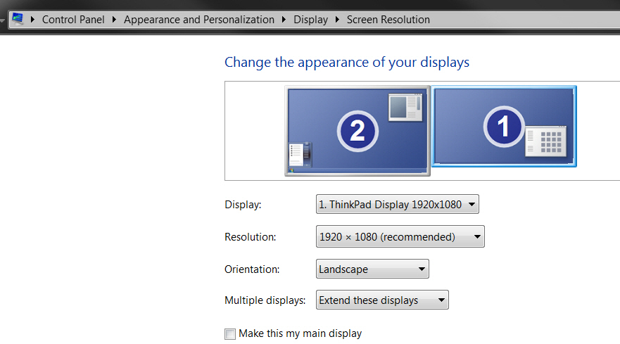 Solved: W530 Dual monitor display - Lenovo Community