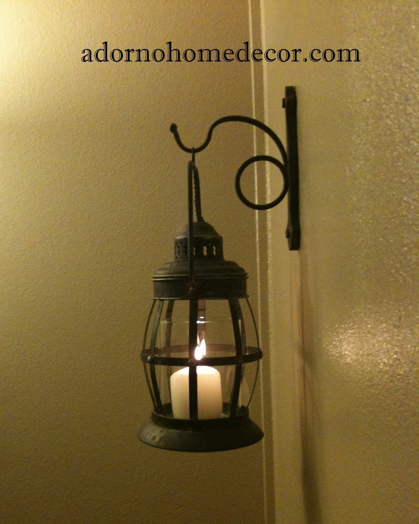 Industrial Chic Wall Sconces : Metal Lantern Wall Sconce Rustic Industrial Antique Vintage Shabby Unique Chic eBay