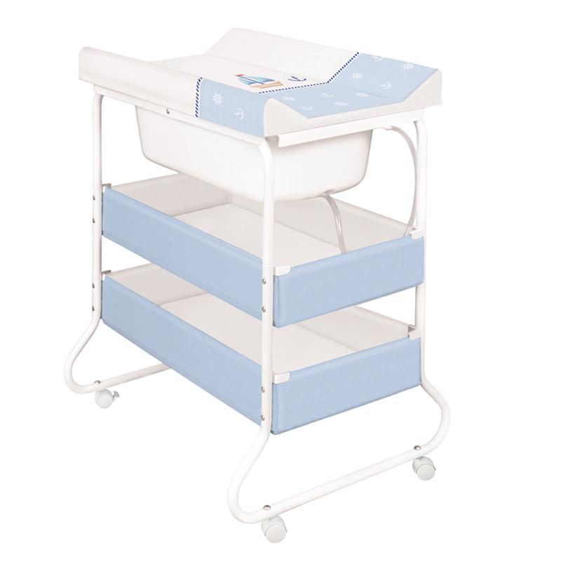 wickeltisch baby badewanne gestell yacht blau ebay. Black Bedroom Furniture Sets. Home Design Ideas