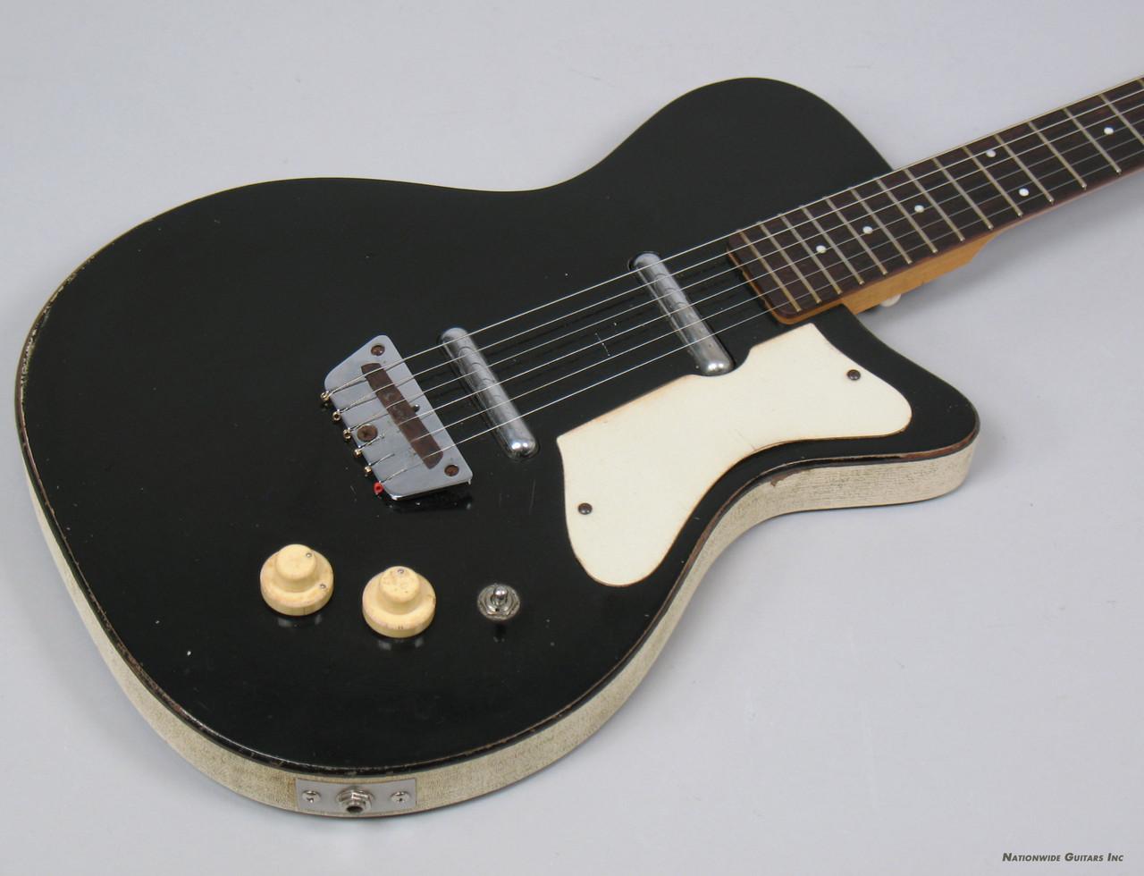 1959 silvertone 1303 danelectro u2 guitar black lipstick pickups ebay. Black Bedroom Furniture Sets. Home Design Ideas