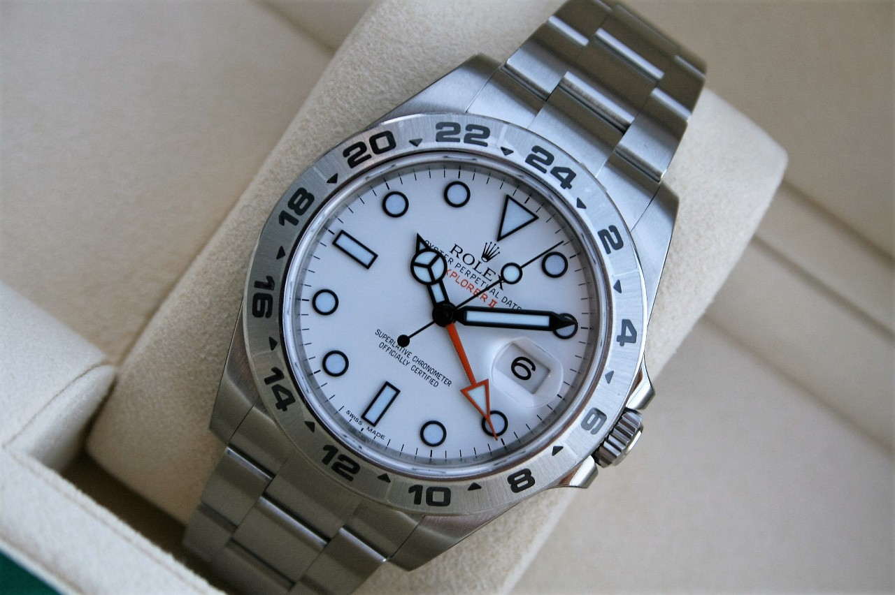 61993965808 Price NIB Rolex Explorer II 42MM Orange Hand Model 216570 White Dial Polar  (Rolex)