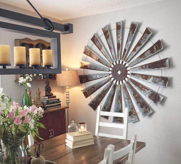 Rustic Metal Windmill Wall Decor 48