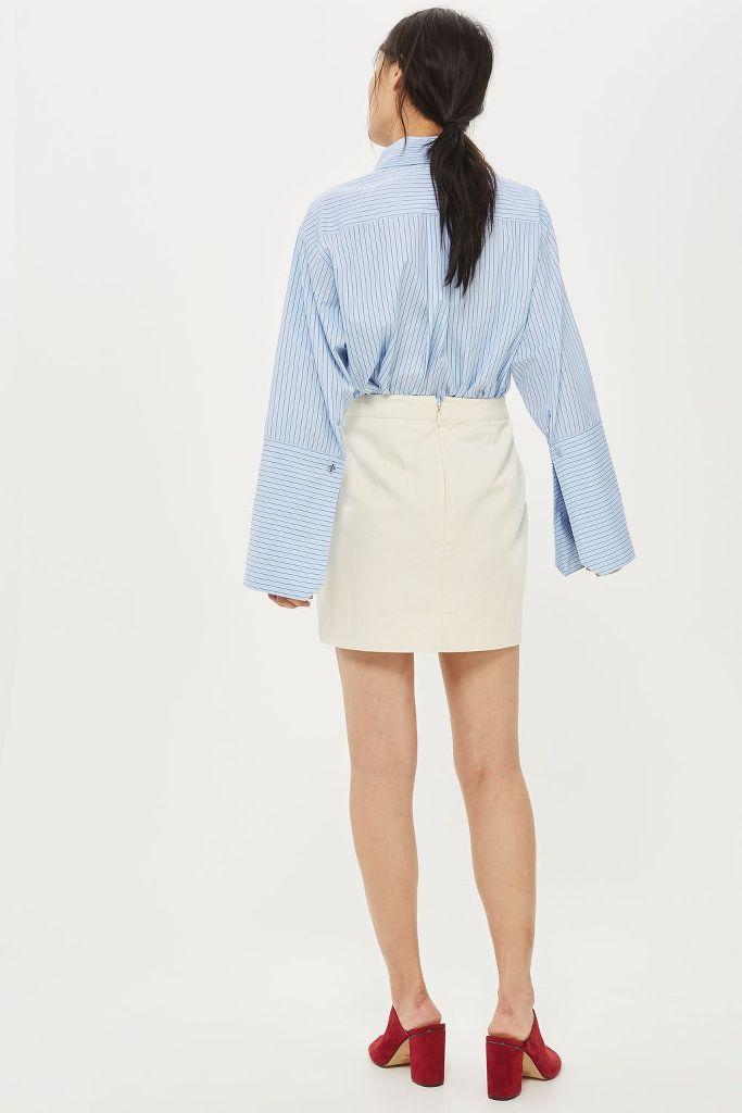 Topshop Ivy Flower Embroidered Cream Mini Skirt Premium UK SIZES 4-16