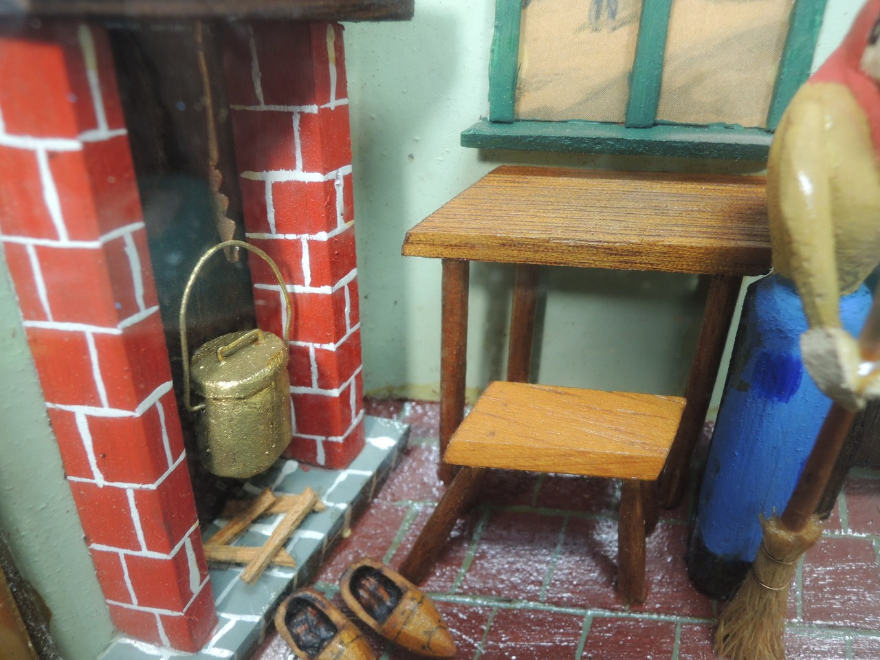 Miniature Children S Bedroom Room Box Diorama: DOLLHOUSE MINIATURE ROOM BOX DIORAMA HANDMADE FOLK ART