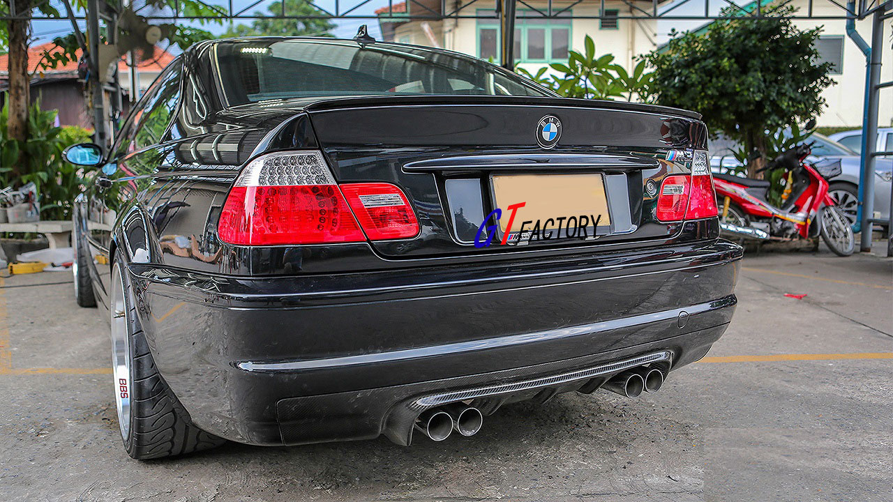 v style full carbon rear diffuser spoiler for bmw e46 m3. Black Bedroom Furniture Sets. Home Design Ideas