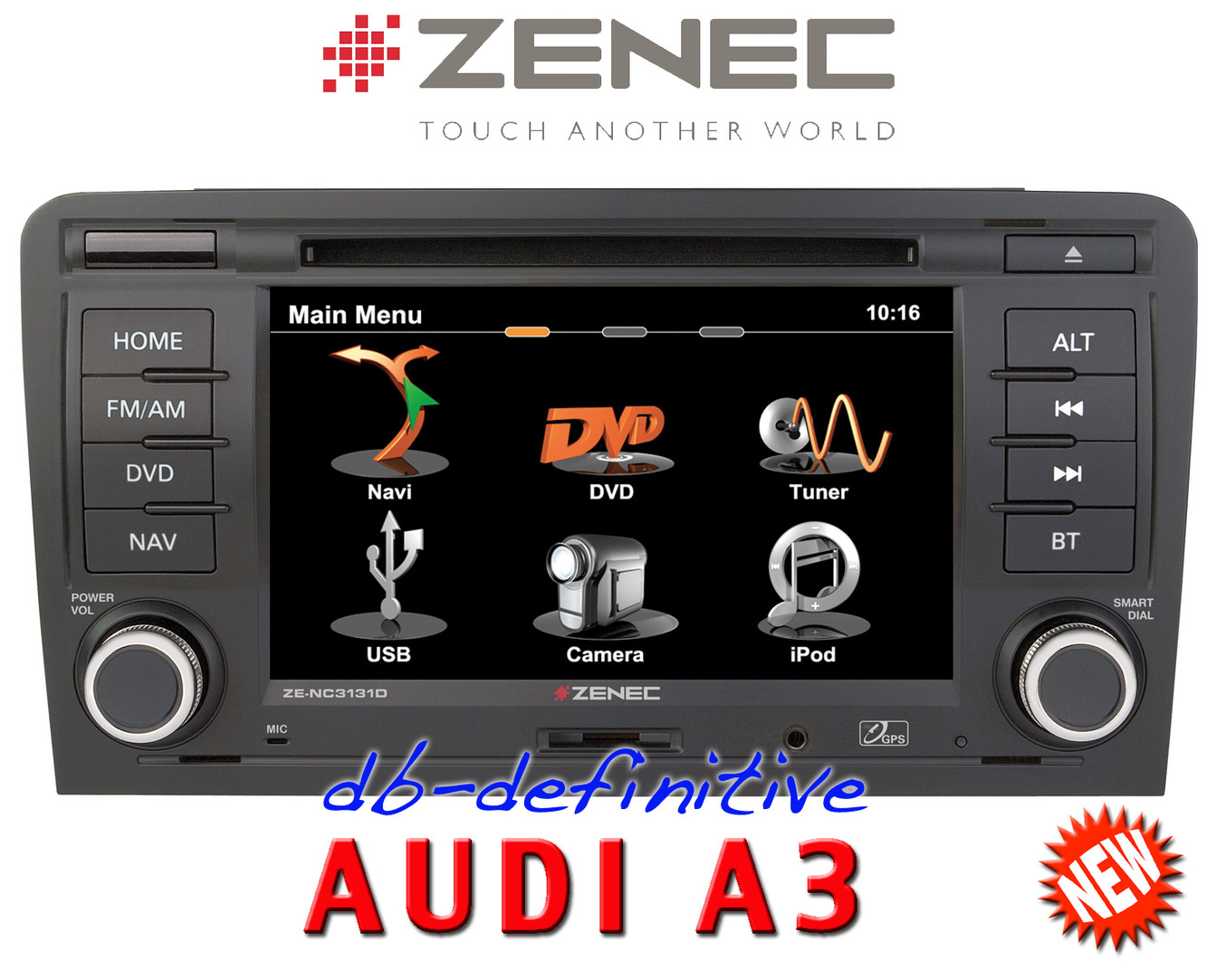 zenec ze nc3131d autoradio navi bluetooth radio audi a3 sportback 8pa 08 2004 ebay. Black Bedroom Furniture Sets. Home Design Ideas