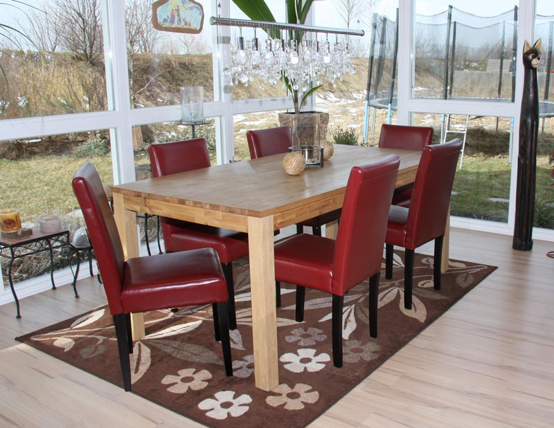 6x st hle kunstleder rot esszimmerstuhl stuhl lehnstuhl polsterstuhl neu set 6 ebay. Black Bedroom Furniture Sets. Home Design Ideas