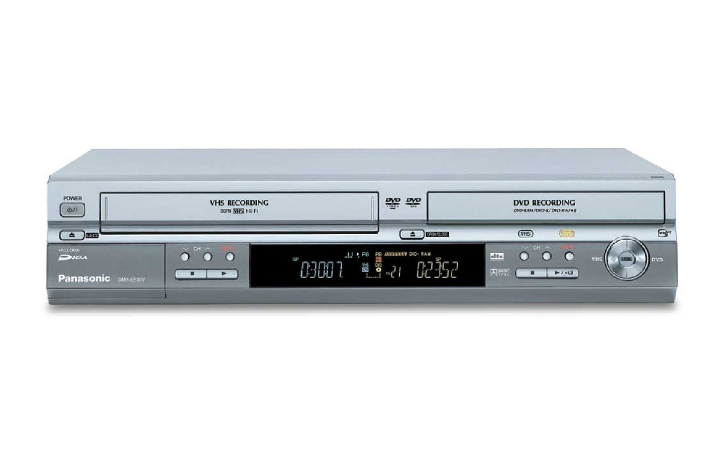 panasonic region free dmr es30v dvd vcr vhs ext cctv. Black Bedroom Furniture Sets. Home Design Ideas