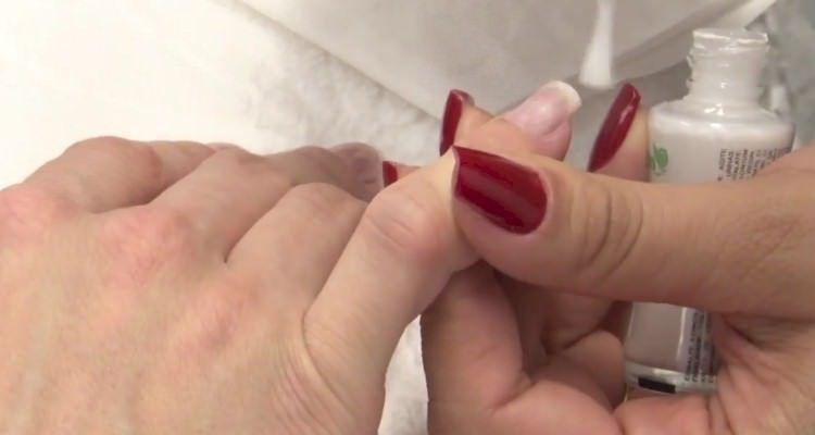 ombré nails glitter