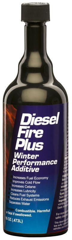 Details about E-ZOIL Diesel Fire Plus Winter Performance Additive 16oz  Part# D60-16 Case of 24