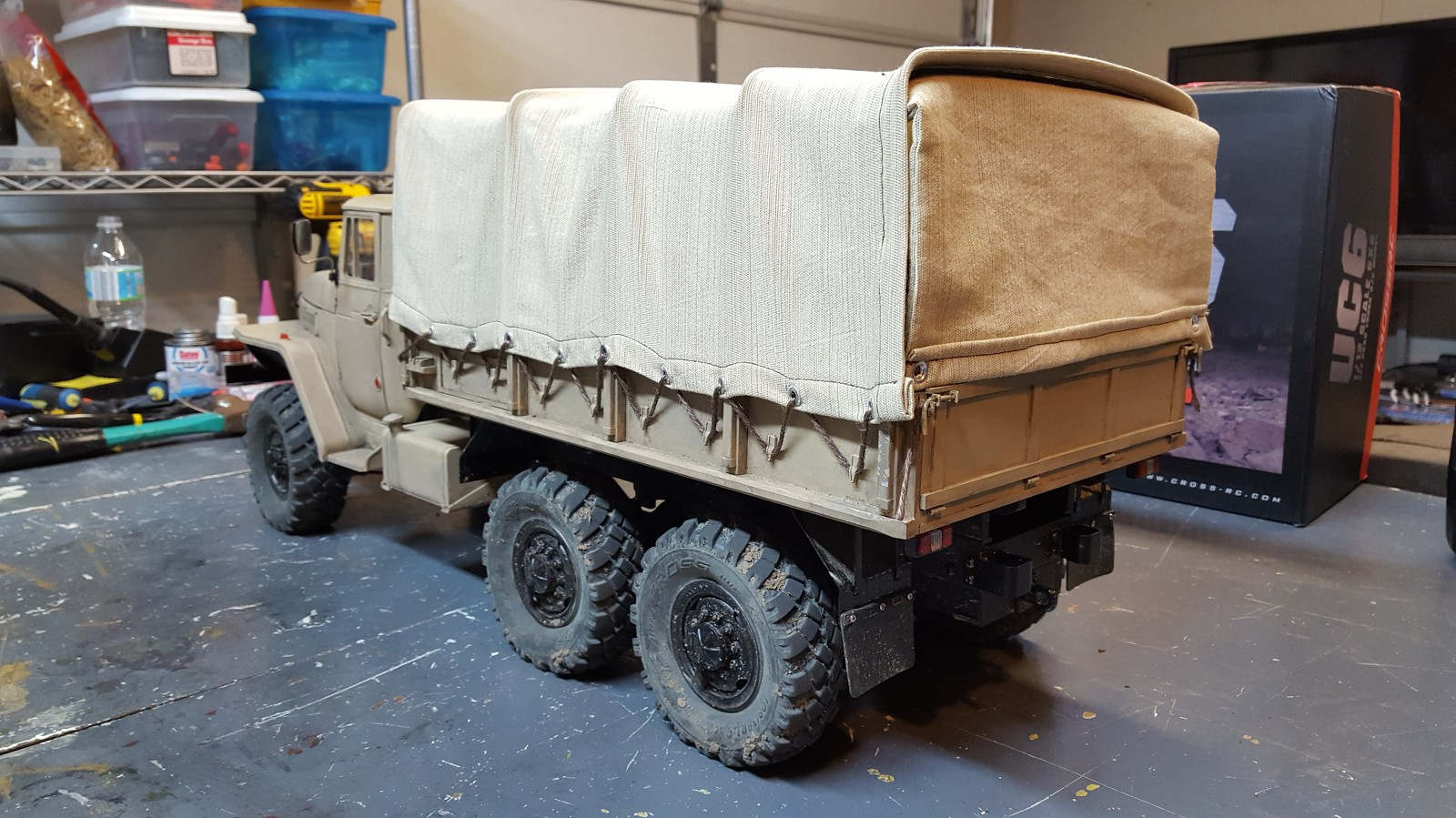 CROSS RC UC6 6x6 Ural Truck - RC Truck and Construction