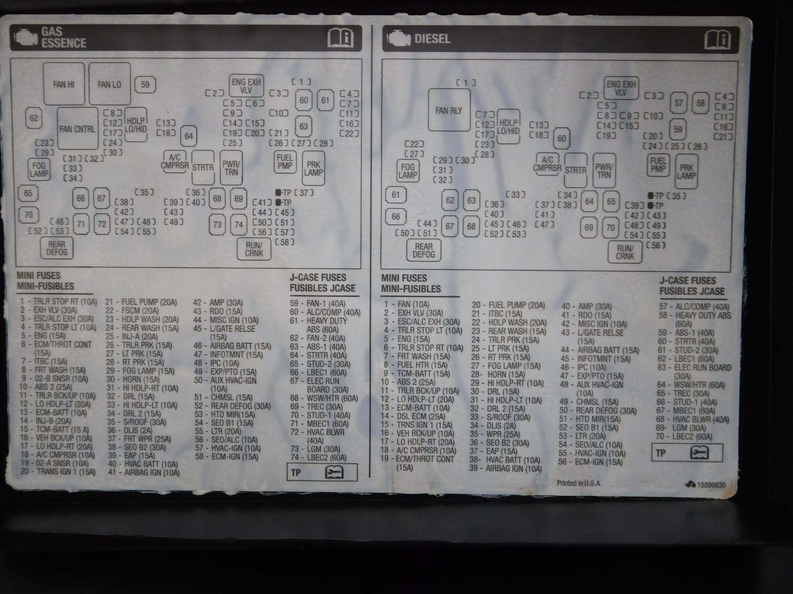 2008 gmc sierra 2500hd fuse box diagram gmc junction engine fuse box wires