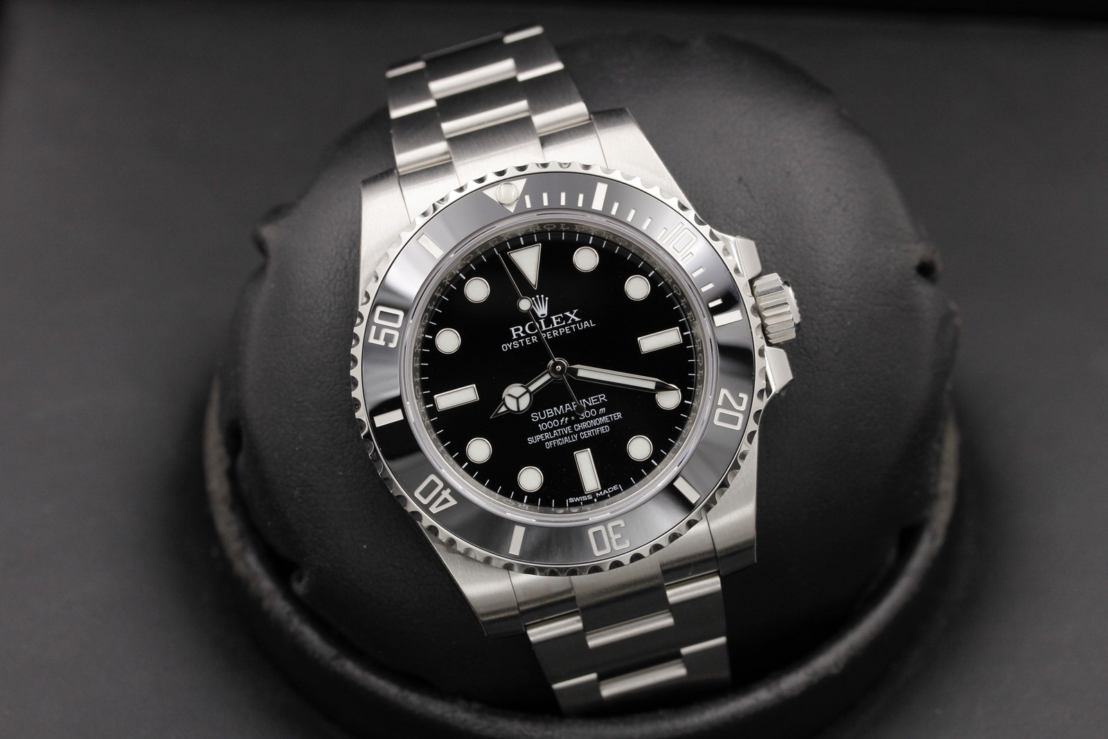 rolex submariner 114060 stainless steel ocwatchguy. Black Bedroom Furniture Sets. Home Design Ideas