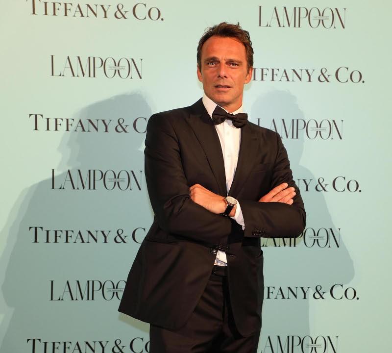 L attore Alessandro Preziosi indossa l orologio TIFFANI   Co. sabato 2  settembre. Courtesy of Grazia Lotti Relazioni Pubbliche ba9ffdda278