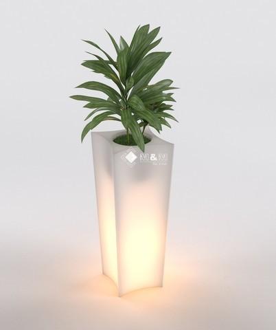 led blumentopf pflanzk bel blumenk bel neu h 80 cm beleuchtet doris led 7vat ebay. Black Bedroom Furniture Sets. Home Design Ideas