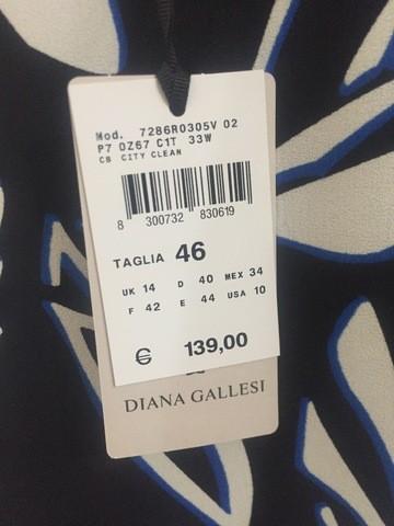ABITO VESTITO CERIMONIA DONNA DIANA GALLESI ORIGINALE 7286R0305V DRESS P/E 2017
