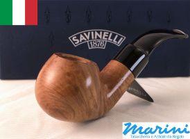 Pipa Pipe pfeife Savinelli grezza curva 606 KS cerata lucida made in italy