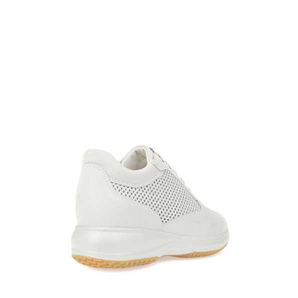SCARPE CASUAL SNEAKERS DONNA GEOX ORIGINAL HAPPY D5262A PELLE SHOES P E  2017 NEW 8f2ee073f8c