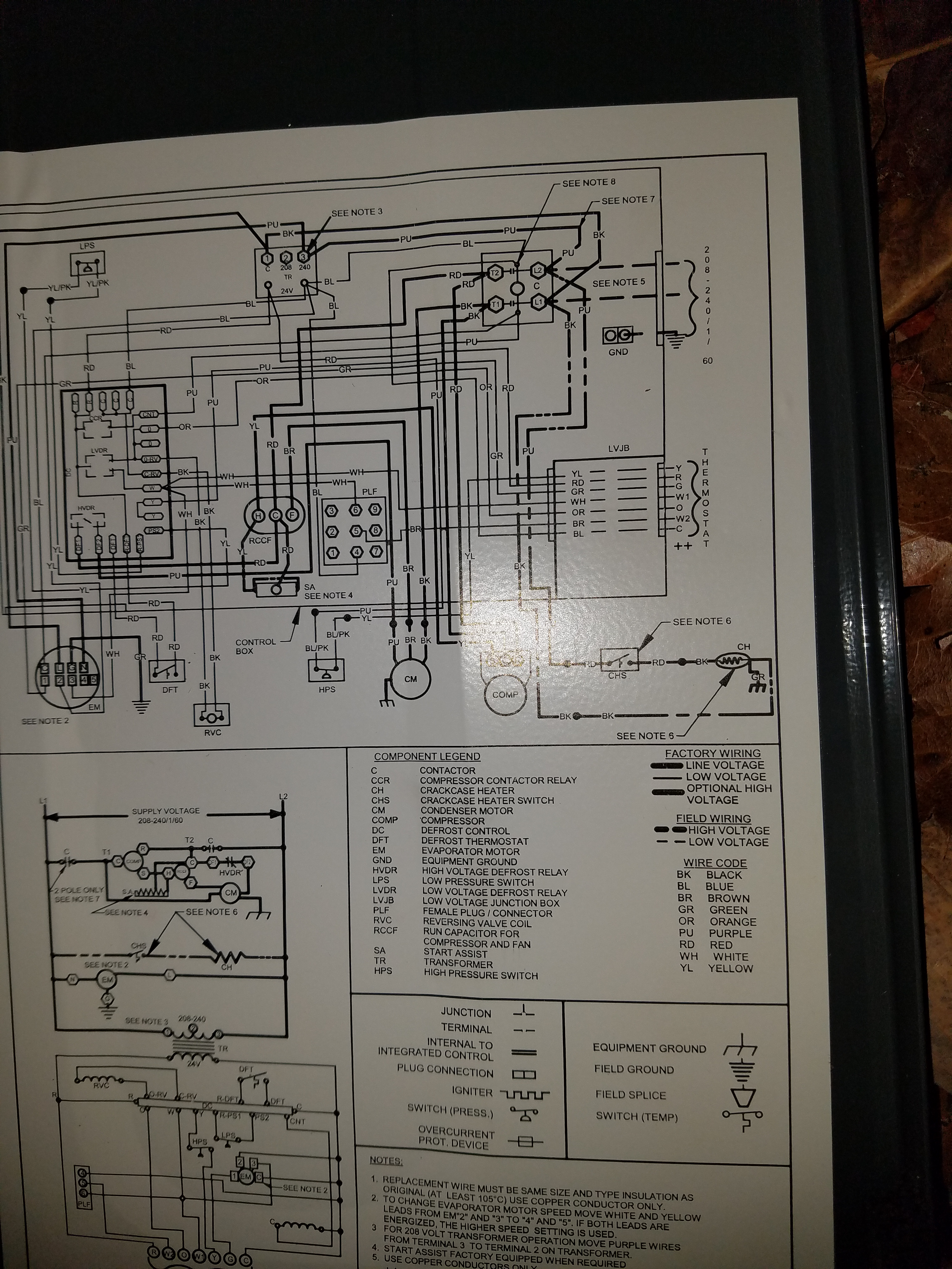 need help wiring goodman package unit gph1442 to hunter 44760 thermo rh  doityourself com